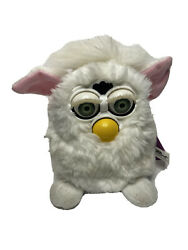 Vtg Generation One 1998 Furby Snowball White Green Eyes 70-800 Tested Working