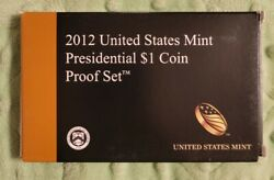 1 2012 United States Mint Presidential Dollar Coin Proof Set W/ Box And Coa 12