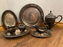 Rogers And Brothers Silver Plated Antique Serving Pieces