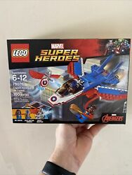Lego Marvel Super Heroes Captain America Jet Pursuit 76076 New Free Shipping