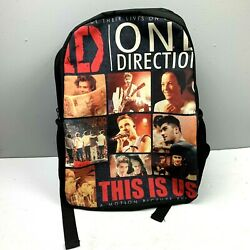 One Direction Backpack Book Travel Bag This Is Us A Motion Picture Graphic Black
