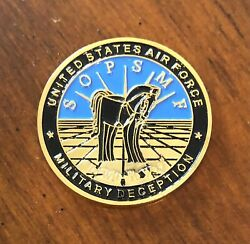 Us Air Force Operations Security Military Deception Sopsmf Usaf Challenge Coin