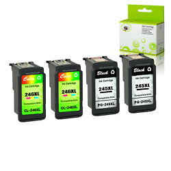 4pk Pg-245xl Cl-246xl Black Color Ink Cartridge For Canon Tr4520 Mg2522 Mg2920