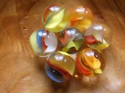 7 5/8 Beautiful Collectable Marble King//vitro Agate Cats Eye Marbles