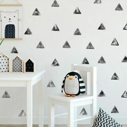 54pcs Wall Sticker Water Color Triangles Nursery Decals Simple Boho Art Posters