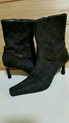 Brown Gg Mark Boots 35 Vintage Size Women 6us