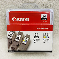 Canon Bci-24 2 Black / 1 Color Multi-pack Ink Cartridges - New