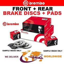 Brembo Front + Rear Brake Discs + Pads For Bmw 5 Touring F11 520d 2014-2017