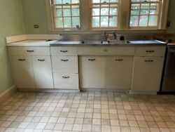 Vintage Tracy Double-drainboard Sink And Geneva Metal Cabinets