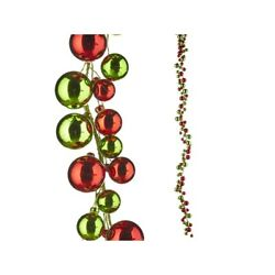 Raz Imports 2021 Best In Show 6-foot Red And Green Ball Garland