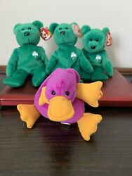 3 Erin The Bear. Pristine Condition. Rare And Tags Completely Clean.