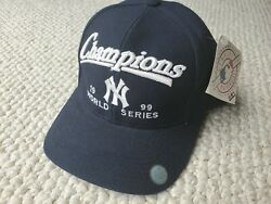 Vintage New York Yankees 1999 World Series Champions Snapback Hat New With Tags
