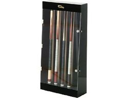 10 Pool Cue Wall Display Case Rack Billiards With Free Shipping