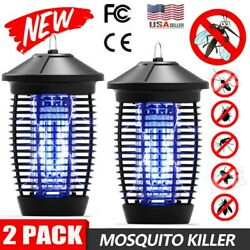 2pcs Mosquito Fly Bug Insect Zapper Killer Indoor Outdoor Electronic Trap Lamp