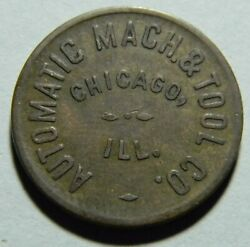 Chicago Ill Automatic Machine And Tool Co 5andcent Token 01438