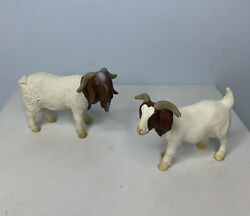 Schleich Boer Goat Lot Of 2 Animal Figures Retired Collectible Buck Nanny 2001