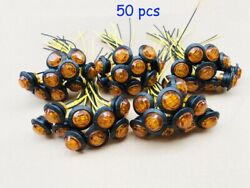 50x Mini 3/4 Round Amber Led Clearance Bullet Marker Lights Truck Trailer Bus
