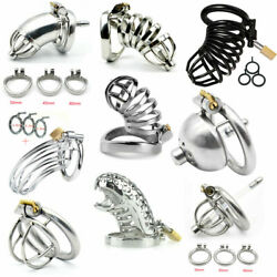 Stainless Steel Metal Male Chastity Belt Cage Device Restraint Spiked-ring Lock