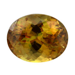 Aaaa Sava Sphene Loose Gemstone Oval Shape Faceted For Jewelry Making Ct 4.25