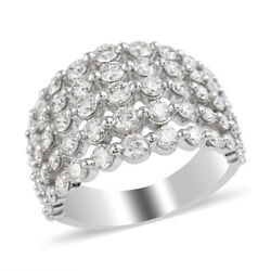 Women Diamond Ring 10k White Gold Fine Jewelry Size 7 Ct 1.1 H Color I3 Clarity