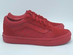VANS OFF THE WALL KIDS RED CHECK CANVAS amp; SUEDE LOW SNEAKERS SHOES SZ 2