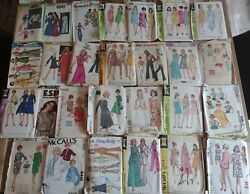 Lot Of 27 Vintage 1960s 1970s Sewing Patterns Simplicity Mccall Butterick Vogue