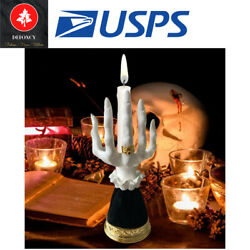 Witch Hand Candlestick Halloween Prop Statue Candle Holder Ornament Craft Gift
