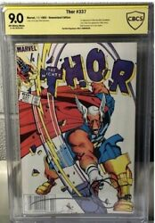 Thor 337 Cbcs 9.0 Gold Newsstand Signed By Walt Simonson First Beta Ray Bill
