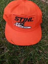 Rare Vintage Stihl Trucker Patch Hat Cap K-products Perfect Snapback Chainsaw