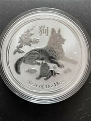 2018 Australian Year Of The Dog Silver 1 Coin