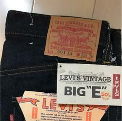 Very Rare Item Unused Levi's Big E Jeans 50's Model 501xxx Shipping From Japan