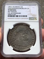 🔥very Rare🔥8 Reales 1810 Mexico Countermarks Chilpancingo And Morelos