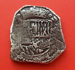 🔥very Rare🔥silver Cob 8 Reales Philip Iv 1639 Madrid Mint Full Date
