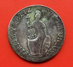 🔥rare🔥silver 8 Reales PerÚ 1836 Assayers M.t Countermark Y.ii Philippines