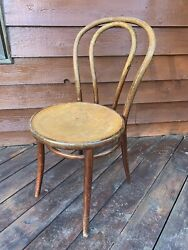 Vintage Antique Bentwood Wood Cafe/bistro Chair Mid Century Modern Thonet Style