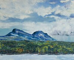 Original Hand Painted Grandfather Mountain Oil On Canvas 24x30 W/o Frame .