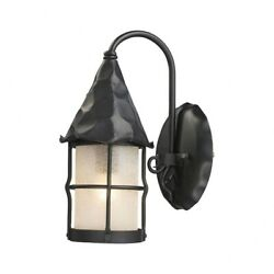 1 Light Outdoor Wall Sconce In Traditional Style - 14 Inches Tall And 7.5 Inches