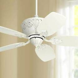 44 Shabby Chic Ceiling Fan Antique Rubbed White For Living Room Kitchen Bedroom