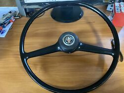 Vintage 1960and039s Austin Car Steering Wheel And Horn Button