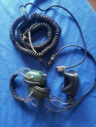 Joyce Vintage Eastern Airlines Military Aircraft Headset 61mw51-2 With Cord