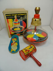Vintage Choral Spinning Top Noise Makers West Germany W/ Box Circus B4-2