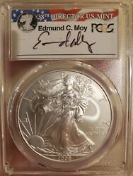 2008-w Moy Reverse Of '07 Burnished Silver Eagle Pcgs Sp70 Pop Of 47