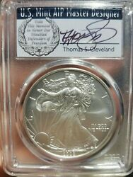 2008-w Cleveland Wreath Reverse Of 2007 Burnished Silver Eagle Pcgs Sp70 Rev