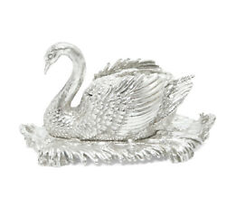 Harry Smith Le 14/75 Miniature Sterling Silver Swan Soup Tureen Tray Ladle Rare