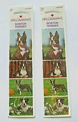 Mrs. Grossmans Stickers Boston Terrier Dog Stickers Puppy 2 Sheets 2quot; x 6.5quot; New