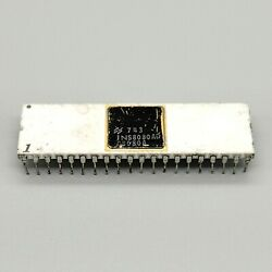 Vintage National Semiconductor 8080 Cpu Ins8080ad Gold White Ceramic Intel Clone