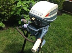 Evinrude Fisherman 1965 6hp Outboard Motor, Runs Great, Very Clean, North Jersey