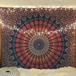 Tapestry Peacock Mandala Hippie Bohemian Tapestry Wall Hanging Bedding Tapestry