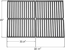 2pc 15 Cast Iron Gas Grill Cooking Grates For Weber Genesis Silver A, Spirit