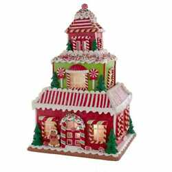 Kurt Adler 16.5 Gingerbread House With Led Light Table Piece, Red